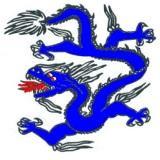 Obrázek modrého čínského draka.