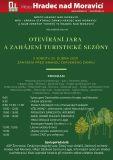 Zelený plakát Otvírání jara a turistické sezóny